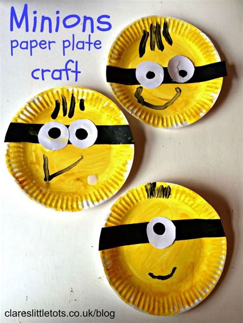 Paper Plate Craft Ideas For Preschool - 25 best ideas about minion craft on names of