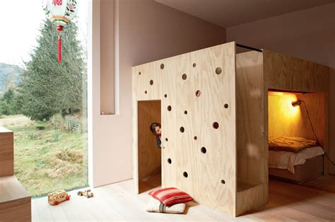 playhouse bunk bed modern residential architecture playroom design ideas