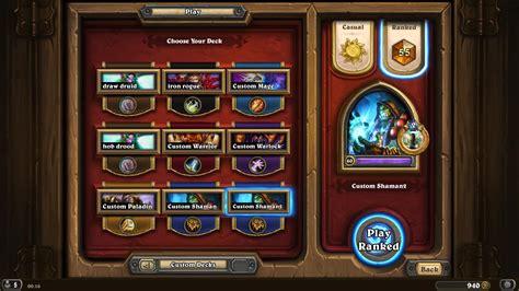 shaman ranked deck legend shaman mvp pyromancer hearthstone decks
