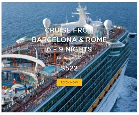 cruises rome to barcelona cruise from barcelona and rome 6 9 nights royal
