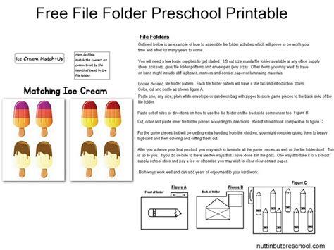 printable file folder games for kindergarten colored popsicle matching file folder free preschool