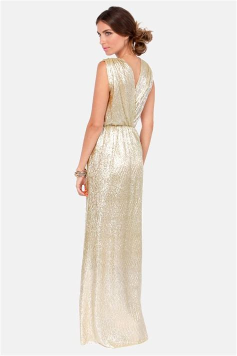 Gold Maxi Dress ? The Perfect Party Look ? careyfashion.com