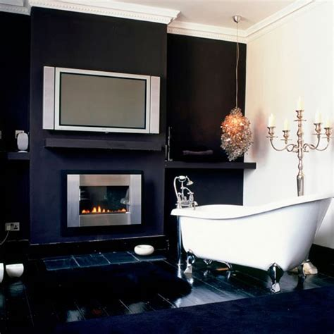 monochrome bathroom ideas dramatic monochrome bathroom hotel style bathrooms ideas housetohome co uk