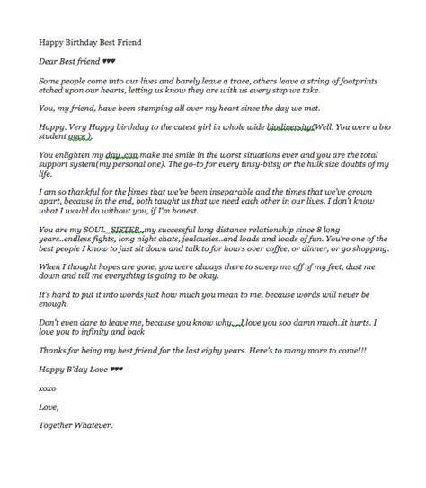 Letter To My Best Friend On His Birthday