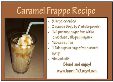 caramel frappe shake recipe by vi shake recipes