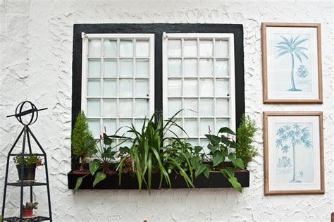 Tudor Style Windows Decorating Tudor Style Decor White Windows Stock Photography Image 19927772