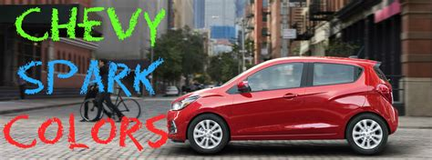 chevy spark colors color choices in the 2017 chevy spark automotive
