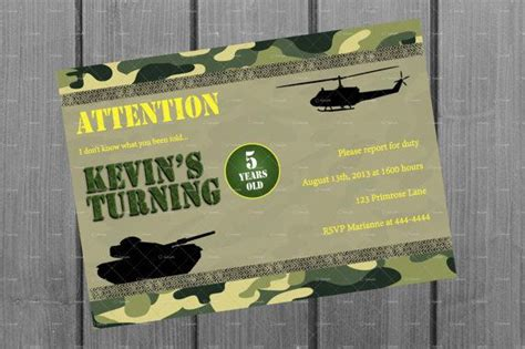 printable army stationery army birthday invitation and free thank you card