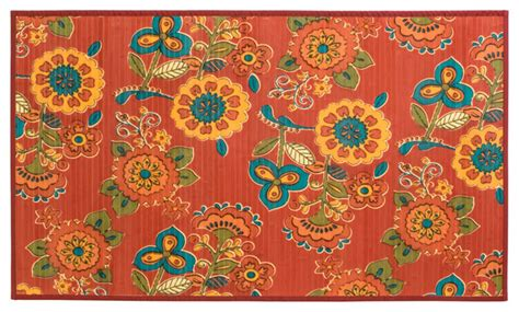 printed bamboo rugs laser printed split bamboo 3 x5 veranda mat ambrosia eclectic outdoor rugs by