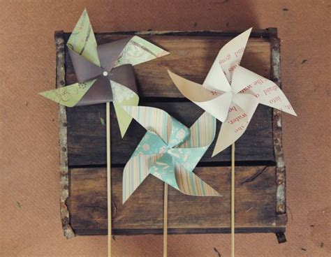 Handmade Windmill With Paper - pretty paper windmills diy