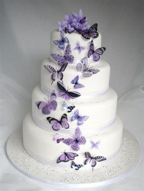 25 Impresionantes Tortas para Bodas con Mariposas   Bodas