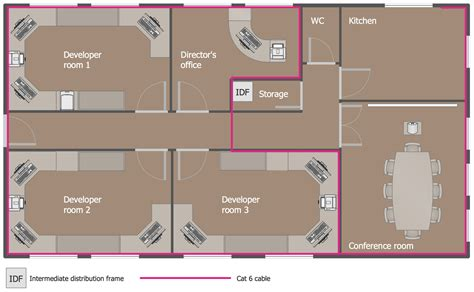 Basement Floor Plan Software network layout floor plans solution conceptdraw com