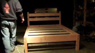How To Build A King Size Platform Bed by Queen Bed Frame Youtube