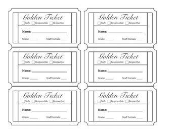 Pbis Golden Ticket Behavior Management System By Oh Cool Dude Math Pbis Ticket Template