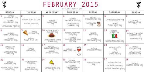 Calendar Days 2017 National Food Days Calendar 2017 Printable Calendar 2018