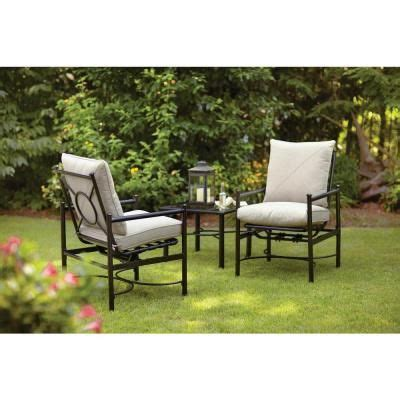 hton bay barnsley 3 patio chat set with textured