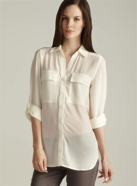 Sleeve Blouses With Pockets by Spense Roll Tab Sleeve Two Pocket Blouse Free Shipping