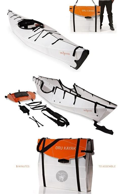 origami canoe the oru kayak origami kayak that folds flat for your