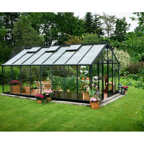 serre de jardin promo serre anthracite 21 4m 178 en verre tremp 233 gardener juliana