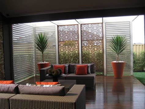 Warm Colour Scheme For The Outdoor Area Get Inspired By Patio Privacy Shades