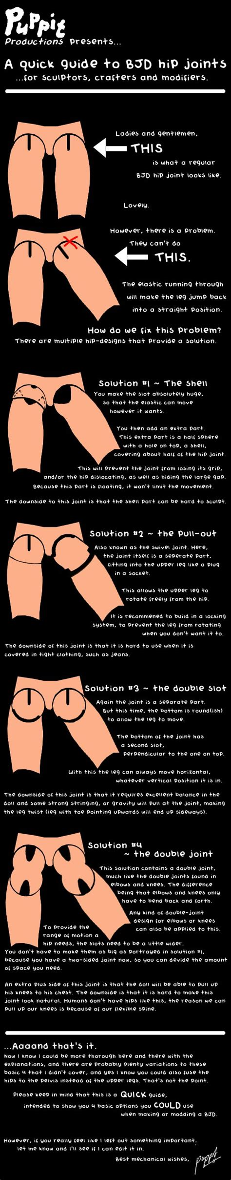 jointed doll guide a guide to bjd hip joints by puppitproductions on