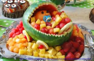 Baby shower food decorating idea