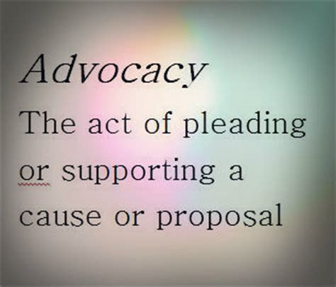 the definition of advocacy