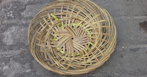 Piring Anyam Piring Lidi 25 Cm Piring Bambu Piring Rotan selatan jaya distributor barang plastik surabaya piring anyaman lidi bambu
