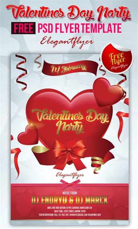 valentines flyer templates free 20 s day flyer psd templates