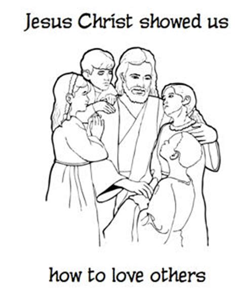 showing love like jesus coloring page jesus christ showed us how to love others coloring page