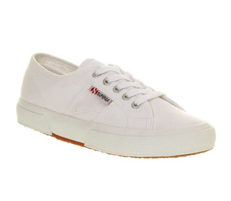womens superga 2750 low l white canvas trainers shoes ebay