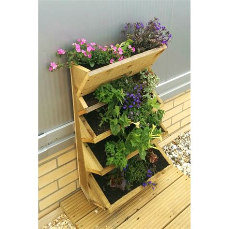 Wall Mounted Planter | maxwell s diy wall mounted wooden herb planter