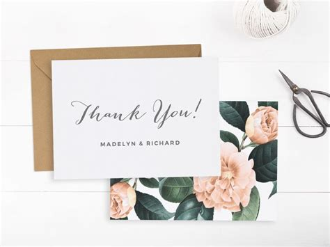 wedding thank you card templates word 25 best ideas about thank you card template on