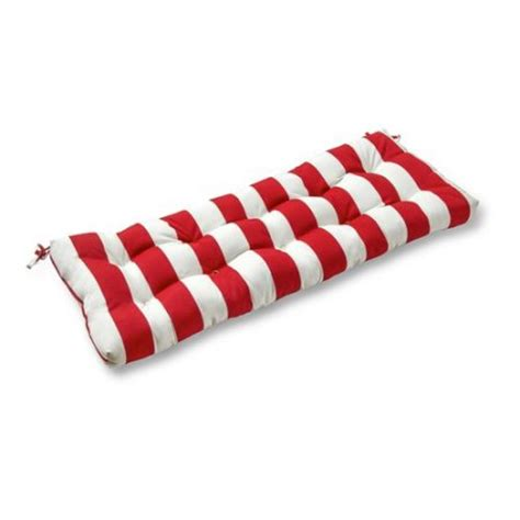 44 bench cushion 44 quot outdoor swing bench cushion cabana stripe red