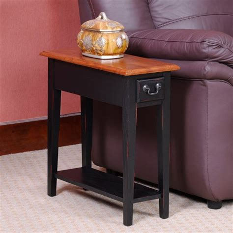 Ideas For Chairside Tables Design Save Space With A Narrow End Table Coffee Table Review