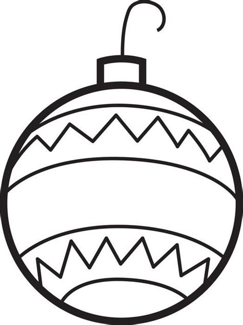 color christmas ball ornament template ornaments coloring page 2 crafts ornaments