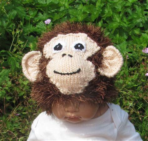 Monkey Knits ravelry baby monkey beanie hat pattern by christine grant