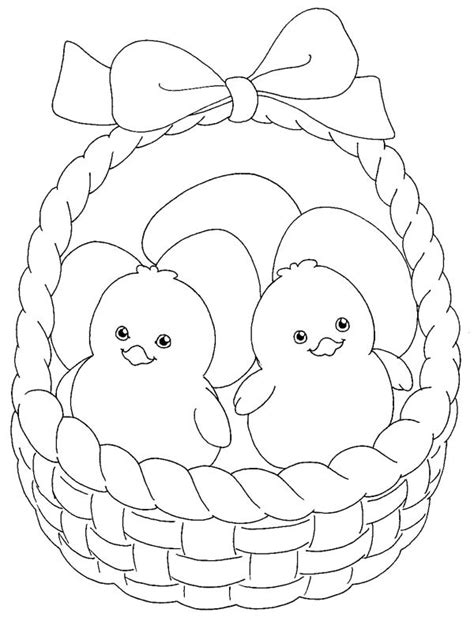 inside out easter coloring pages little chicken inside easter basket coloring page batch