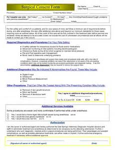 surgery consent form template best photos of surgery consent form sle surgical