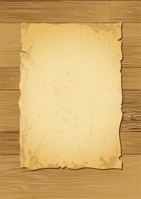 Looking Paper - paper on the wood vector set 01 vector label free