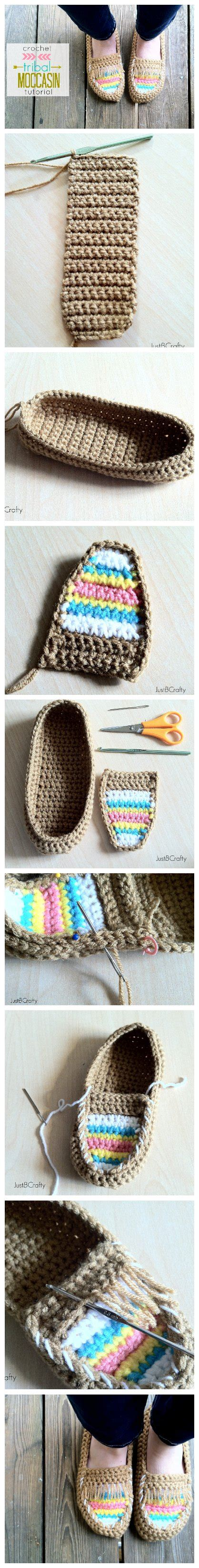 tribal pattern diy diy crochet tribal moccasin free pattern crocheting