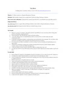 Respiratory Therapist Resume Examples Resume For Respiratory Therapist