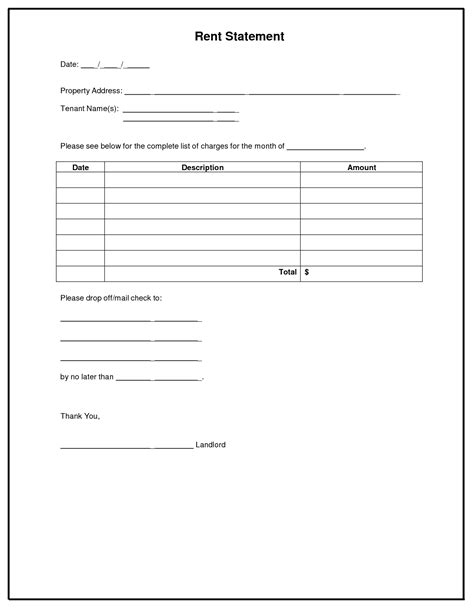 Bill Statement Template Mughals Lease Statement Template