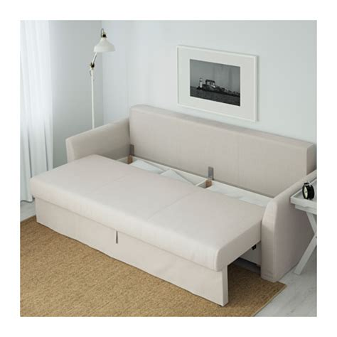 Holmsund Three Seat Sofa Bed Nordvalla Beige Ikea 3 Sleeper Bunk Beds Ikea