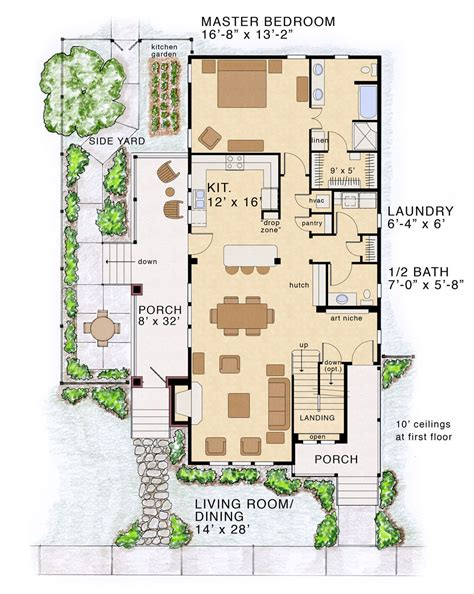 new concept infill house plan