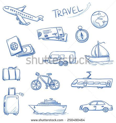 how to do plane on doodle fit icon set travel holidays vacation with plane car