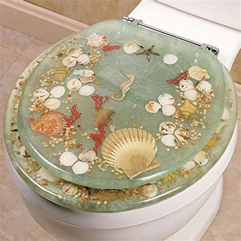 clear toilet seat with seashells decorative acrylic toilet seats