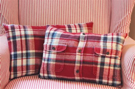 Flannel Pillow Cover by Happy At Home From Flannel Shirt To Pillow Cover A Tutorial