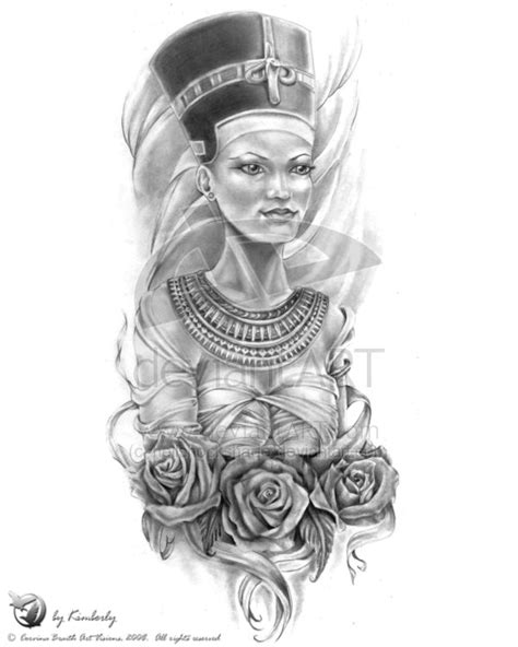 queen nefertiti tattoo designs queen nefertiti and rose tattoo designs 187 tattoo ideas
