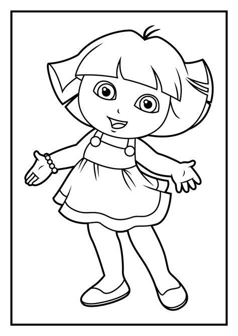 simple dora coloring pages dora the explorer coloring pages only coloring pages